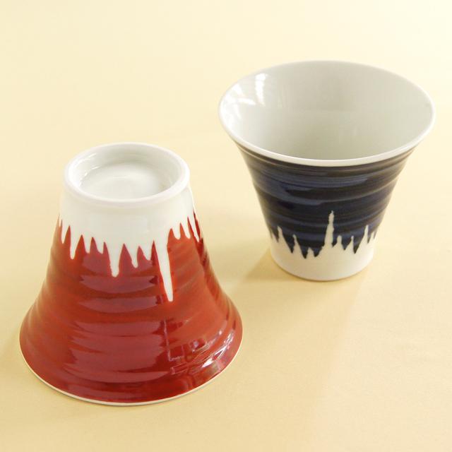 【和食器通販 金照堂】陶房青 富士山ロックカップ