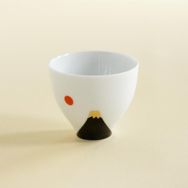 【和食器通販 金照堂】墨桜富士山ペアカップ