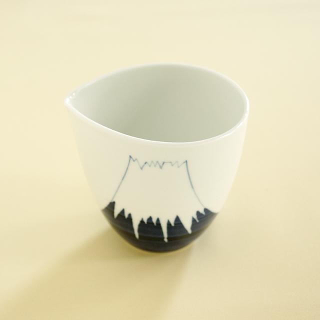 【和食器通販 金照堂】陶房青 富士山片口酒器